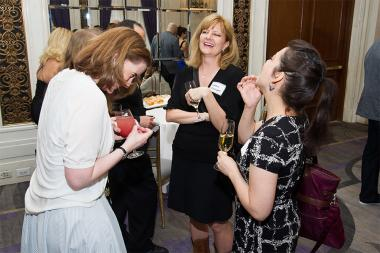 Karen Parks, Debbie Etchison, and Angela Razzano at Networking Night Out NYC! at the St. Regis Hotel in New York City, June 12, 2015.