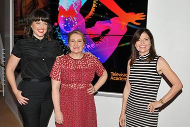 "Television Academy governors Kathryn Burns, Mandy Moore, and Gail Mancuso at ""Whose Dance Is It Anyway?"" February 16, 2017, at the Saban Media Center in North Nollywood, California."