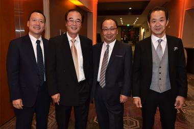 Kento Sayama, Sumimasa Yanagisawa, Hiroshi Kiriyama,  and Kurashige Tadamasa at the 68th Engineering Emmy Awards, October 28, 2016 at Loews Hollywood Hotel in Los Angeles, California.
