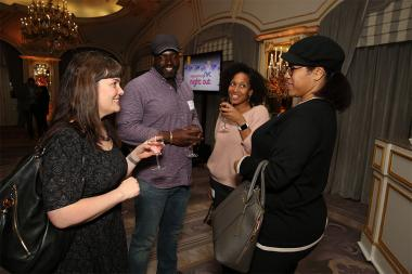 Liza Krontilik, Stephen Hill, Malikha Malieta and Kim King at Television Academy's Networking Night Out at the St. Regis on Friday, April 6, 2018 in New York.