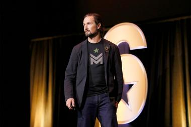 "Matt ""Griff"" Griffin speaks at the Got Your Six ""Storytellers"" event at the Television Academy's Wolf Theatre at the Saban Media Center on Tuesday, November 1, 2016, in North Hollywood, California."