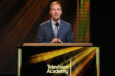 Television Academy president and COO Maury McIntyre opens the nominations announcement for the 67th Emmy Awards  July 16, 2015 at the Pacific Design Center in Los Angeles, CA.