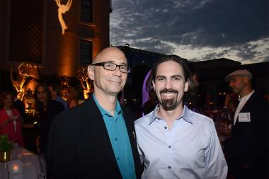 Television Academy governor Michael A. Levine and Bear McCreary at the Music nominee reception September 10, 2015 in Los Angeles, California.