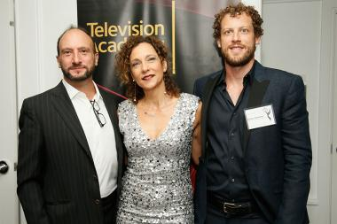 Michael Kovnat, Helen Matsos, and Drew Pulley at the Documentary Programming and Reality Programming nominee reception September 11, 2015 in Los Angeles, California.