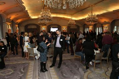 Guests enjoy conversation and refreshments at Television Academy's Networking Night Out at the St. Regis on Friday, April 6, 2018 in New York.