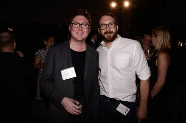 Patrick Claire and Dan Gregoras at the Motion and Title Design nominee reception September 11, 2015 in Los Angeles, California.