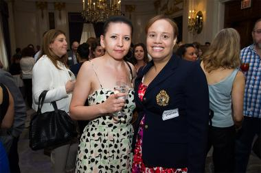 Renata Luczak and Erica Myrickes at Networking Night Out NYC! at the St. Regis Hotel in New York City, June 12, 2015.