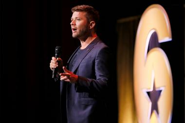 "Ryan Phillippe speaks at the Got Your Six ""Storytellers"" event at the Television Academy's Wolf Theatre at the Saban Media Center on Tuesday, November 1, 2016, in North Hollywood, California."