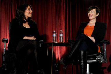 Katey Sagal and Maggie Siff at An Evening with Sons of Anarchy.