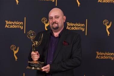 Sam Bolvin at the 68th Engineering Emmy Awards, October 28, 2016 at Loews Hollywood Hotel in Los Angeles, California.
