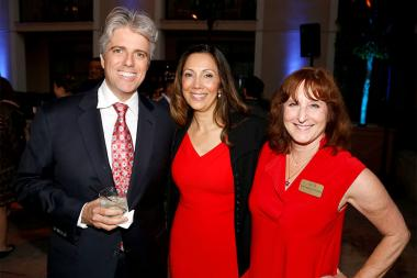 Scott Silveri, Lucia Gervino,Television Academy Honors Chair,   and Susan Nessanbaum-Goldberg, Secretery Television Academy  at the 2017 Television Academy Honors at the Montage Hotel on Thursday, June 8, 2017, in Beverly Hills, California.