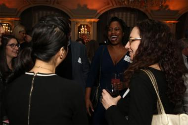 Sharon Francis Moore and friends at Television Academy's Networking Night Out at the St. Regis on Friday, April 6, 2018 in New York.