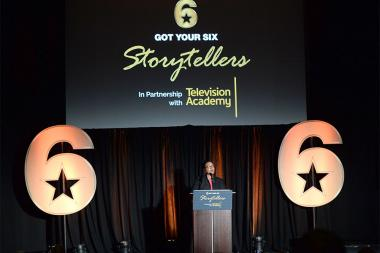 Tiffany Smith-Anoa'i speaks at the Got Your 6 Storytellers event, November 10, 2015, in Los Angeles, California.