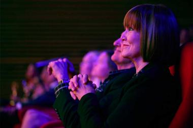 Governor's Award winner Stephanie Edwards enjoys the show at the 68th Los Angeles Area Emmys, July 23, 2016, at the Saban Media Center, North Hollywood, California.