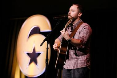 "Stephen Covell performs at the Got Your Six ""Storytellers"" event at the Television Academy's Wolf Theatre at the Saban Media Center on Tuesday, November 1, 2016, in North Hollywood, California."