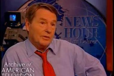 Embedded thumbnail for Jim Lehrer on joining up with Robert MacNeil and covering the Watergate hearings