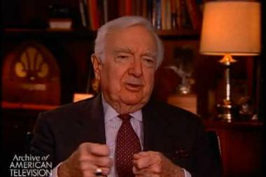 "Embedded thumbnail for Walter Cronkite on what it meant to be given a ""watch"" in the broadcast business"