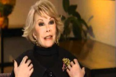 "Embedded thumbnail for Joan Rivers on her catch phrase ""Can We Talk?"" and building her humor"