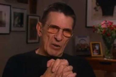 """Embedded thumbnail for Leonard Nimoy on his Star Trek character """"Mr. Spock"""""""