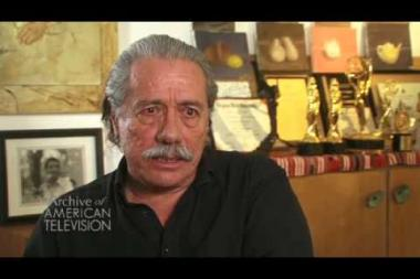 "Embedded thumbnail for Edward James Olmos on creating the character of ""Admiral William Adama"" on Battlestar Galactica"