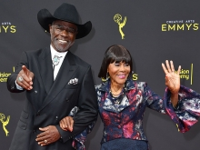 Glynn Turman and Cicely Tyson on the red carpet at the 2019 Creative Arts Emmys.