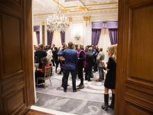 A peek into the gathering at the New York Networking Night Out, November 13, 2015 at the St. Regis in New York City.