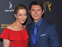 Lou Diamond Phillips and his wife, Yvonne Boismier Phillips, at the Television Academy's Dynamic and Diverse event, August 25, 2016, at the Saban Media Center, North Hollywood, California.