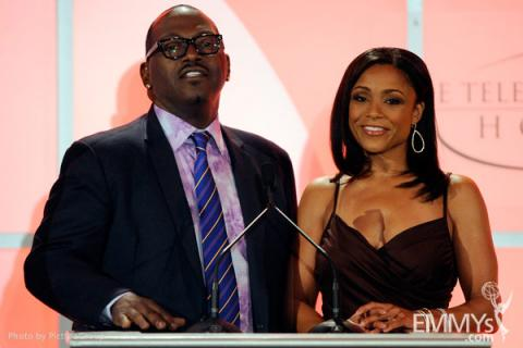 Randy Jackson & Dominique Dawes at the Fourth Annual Television Academy Honors