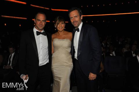 Hugh Laurie, Mariska Hargitay & Christopher Meloni at the 62nd Primetime Emmy Awards