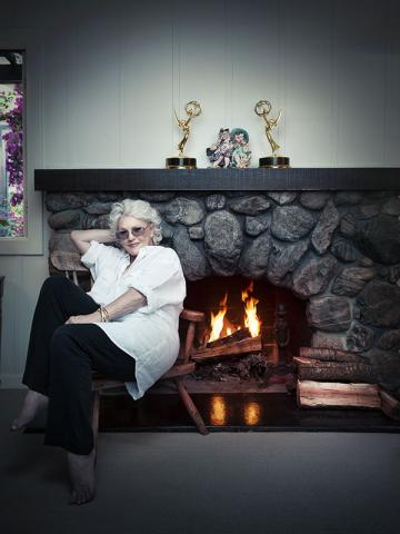 Sharon Gless with her two Emmys