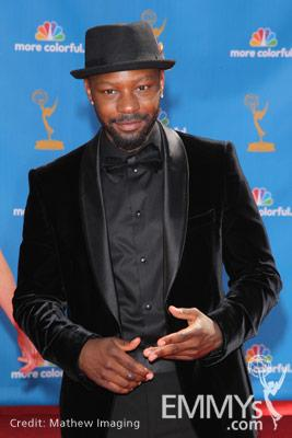 Nelsan Ellis arrives at the 62nd Primetime Emmy® Awards held at the Nokia Theatre