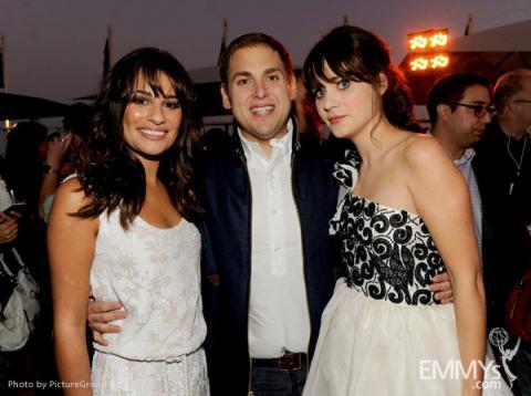 Lea Michele, Jonah Hill, Zooey Deschanel