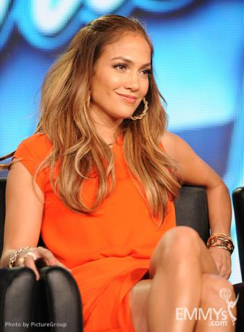 American Idol judge, actress and recording star Jennifer Lopez at the 2012 winter TCA conference
