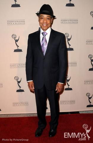 Giancarlo Esposito arrives at an Evening with Breaking Bad