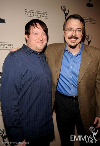 Dave Porter and Vince Gilligan arrive at an Evening with Breaking Bad