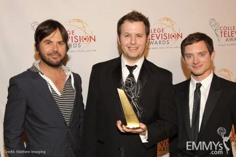 Jason Gann, R. Lance Montgomery II & Elijah Wood at the 32nd College Television Awards