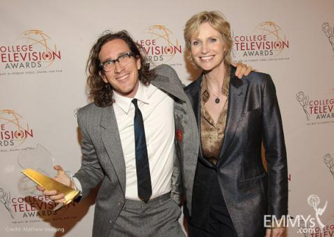 Ian Brennan and Jane Lynch