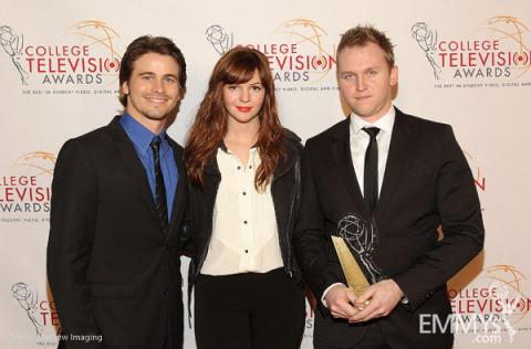 Jason Ritter, Amber Tamblyn & West Lee McDowell at the 32nd College Television Awards