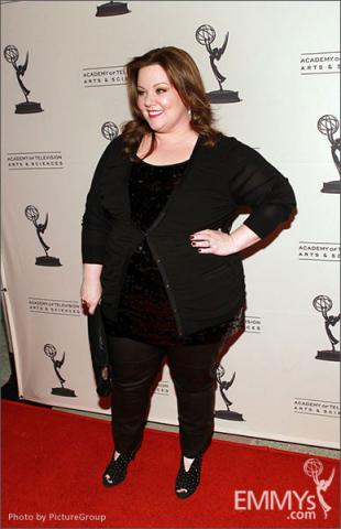 Melissa McCarthy arrives at an Evening with Mike & Molly