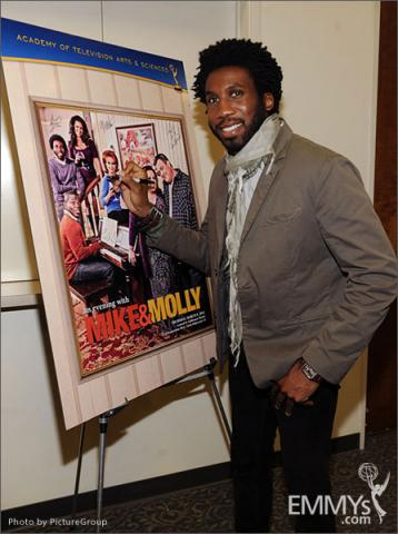 Nyambi Nyambi attends an Evening with Mike & Molly