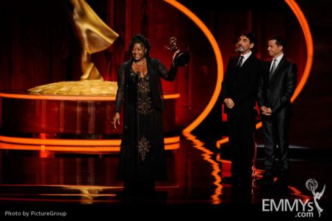Loretta Devine accepting an award at the Academy of Television Arts and Sciences 2011 Primetime Creative Arts Emmys