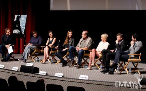 The cast of An Evening With Boss onstage