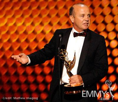 """Winner of Best Cinematography for Nonfiction for """"Life"""" onstage during the 62nd Primetime Creative Arts Emmy Awards"""