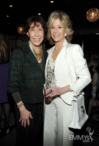 Lily Tomlin and Jane Fonda at the 2013 Performers Emmy Celebration