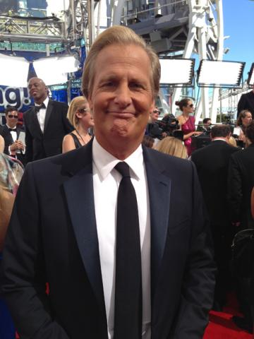 Jeff Daniels on the Red Carpet at the 65th Emmys
