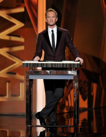 Neil Patrick Harris on stage at the 65th Emmys