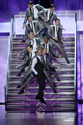 Neil Patrick Harris performs onstage at the 65th Emmys