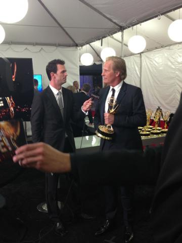 Jeff Daniels backstage at the 65th Emmys