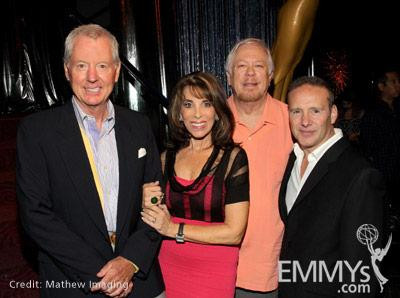 Governor's Ball co-chair Russ Patrick, actress Kate Linder, co-chair Dwight Jackson, committee member Mark Teschner