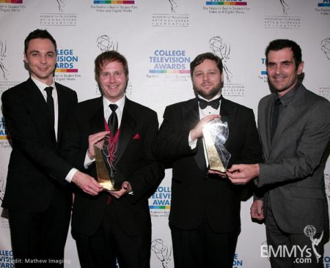 Jim Parsons, Jeff Hersh, Nicolaas Bertelsen and Ty Burrell at the 31st College Television Awards